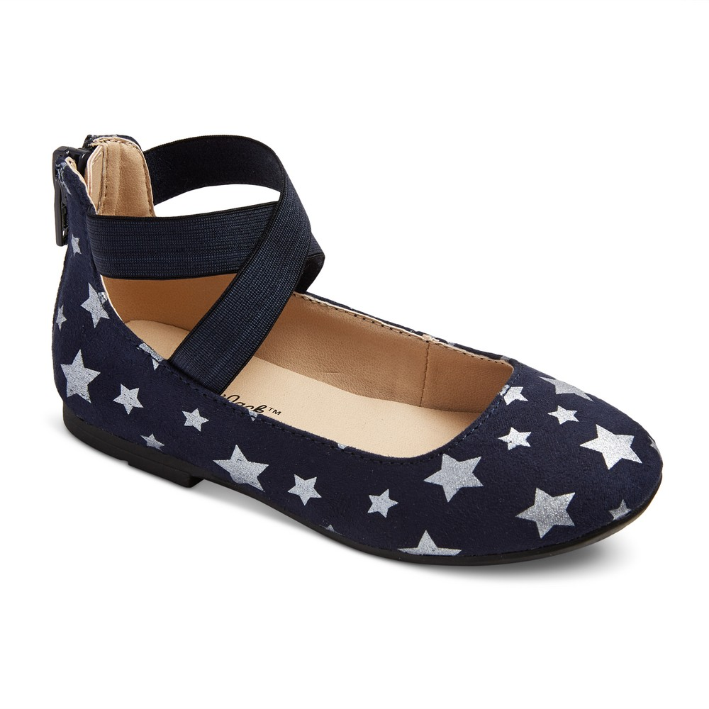 Toddler Girls Candace Ballet Flats 6 - Cat & Jack - Navy (Blue)