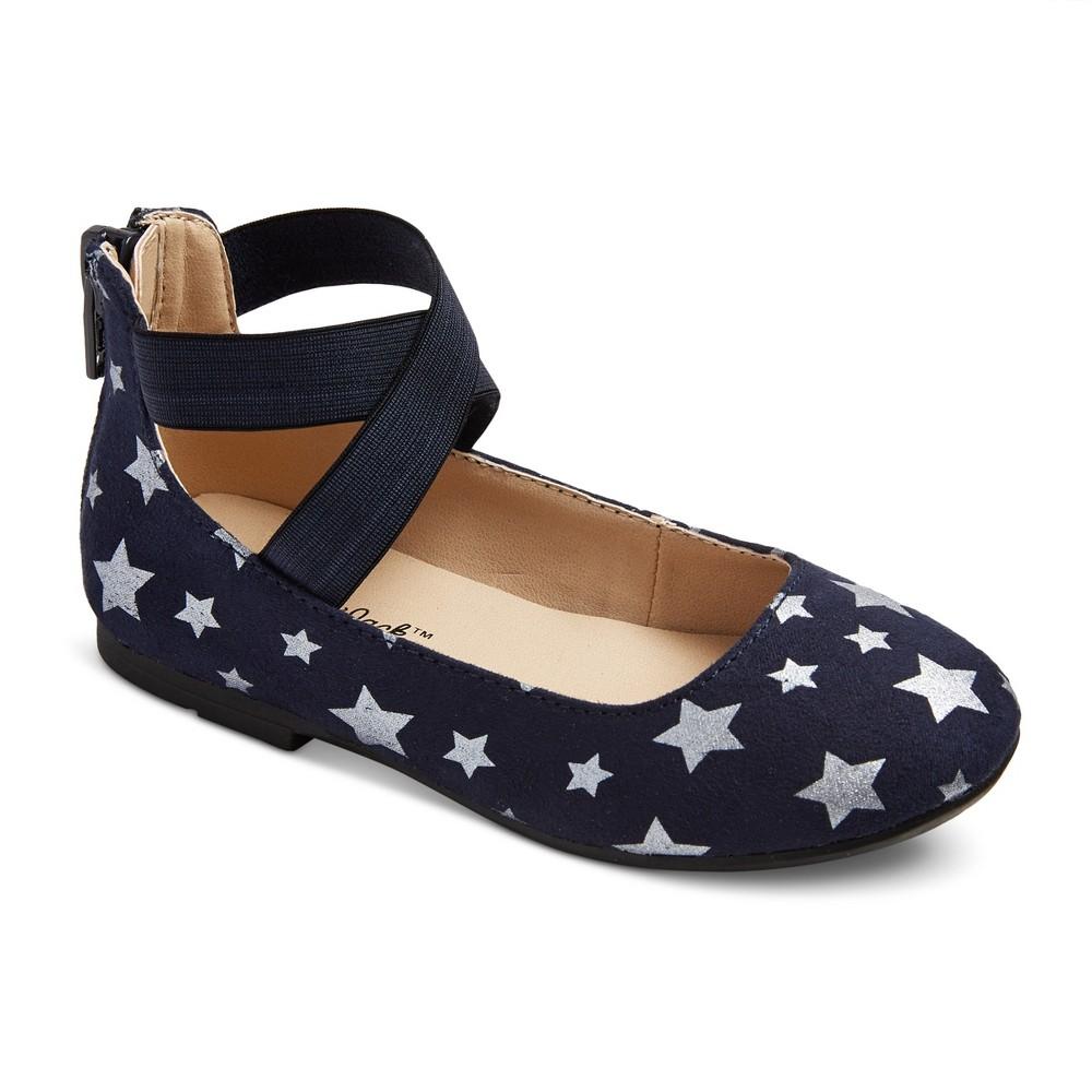 Toddler Girls Candace Ballet Flats 7 - Cat & Jack - Navy (Blue)