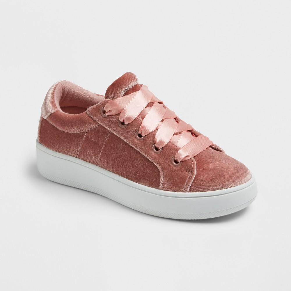 Girls Stevies #velvetkrush Velvet Sneakers - Pink 2, Black
