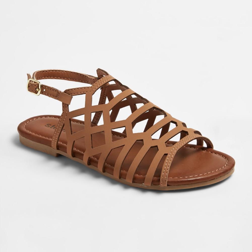 Girls Stevies #crisscross Caged Cut Gladiator Sandals - Tan 2