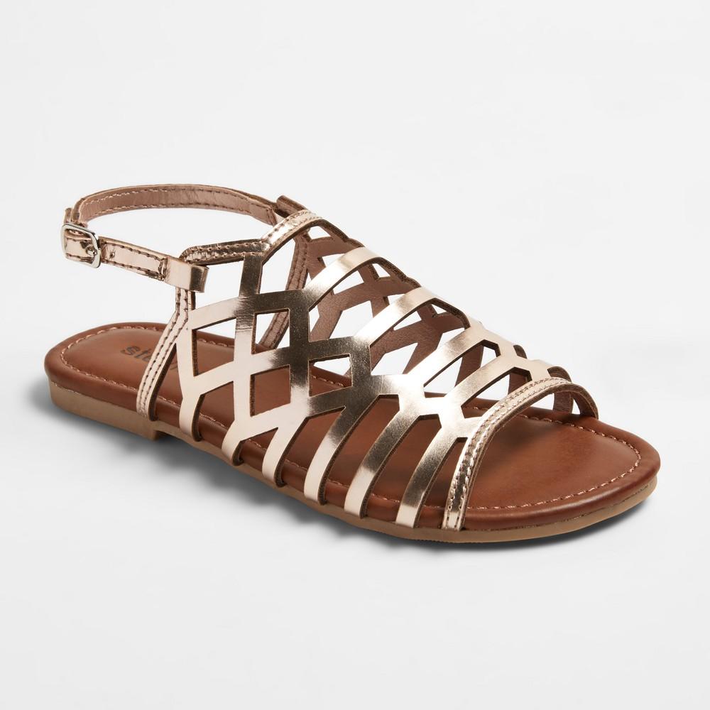 Girls Stevies #crisscross Caged Cut Gladiator Sandals - Gold 4