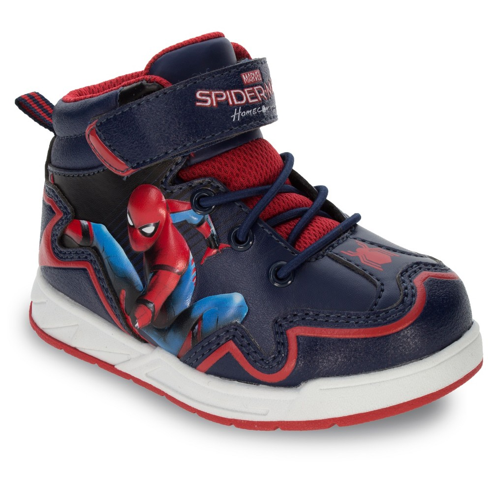 Spider-Man Toddler Boys Homecoming Hiker Boots - Black 7