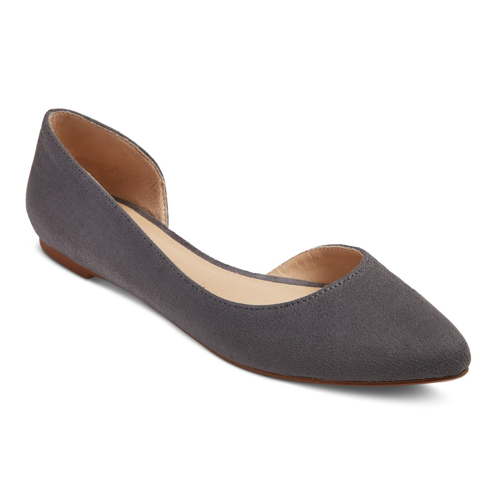 Women's d'Orsay Mohana Ballet Flats - Mossimo Supply Co. Gray 9