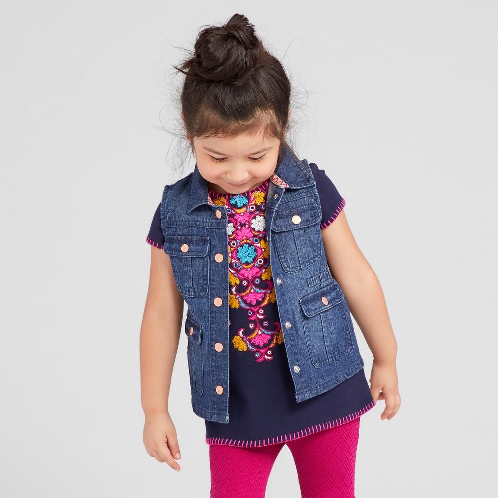 Toddler Girls Vest - Genuine Kids from OshKosh Dark Wash 3T, Blue