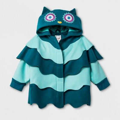 Toddler Girls' Cape with Owl Hood Jacket Cat & Jack™ - Teal 18M