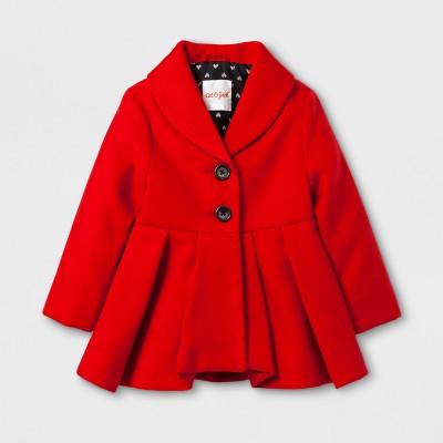 Toddler Girls' Skirted Dress Coat - Cat & Jack™ Red 12M