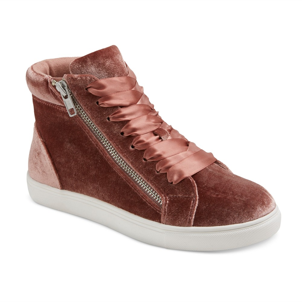 Womens Sara High Top Velvet Sneakers - Mossimo Supply Co. Blush 8