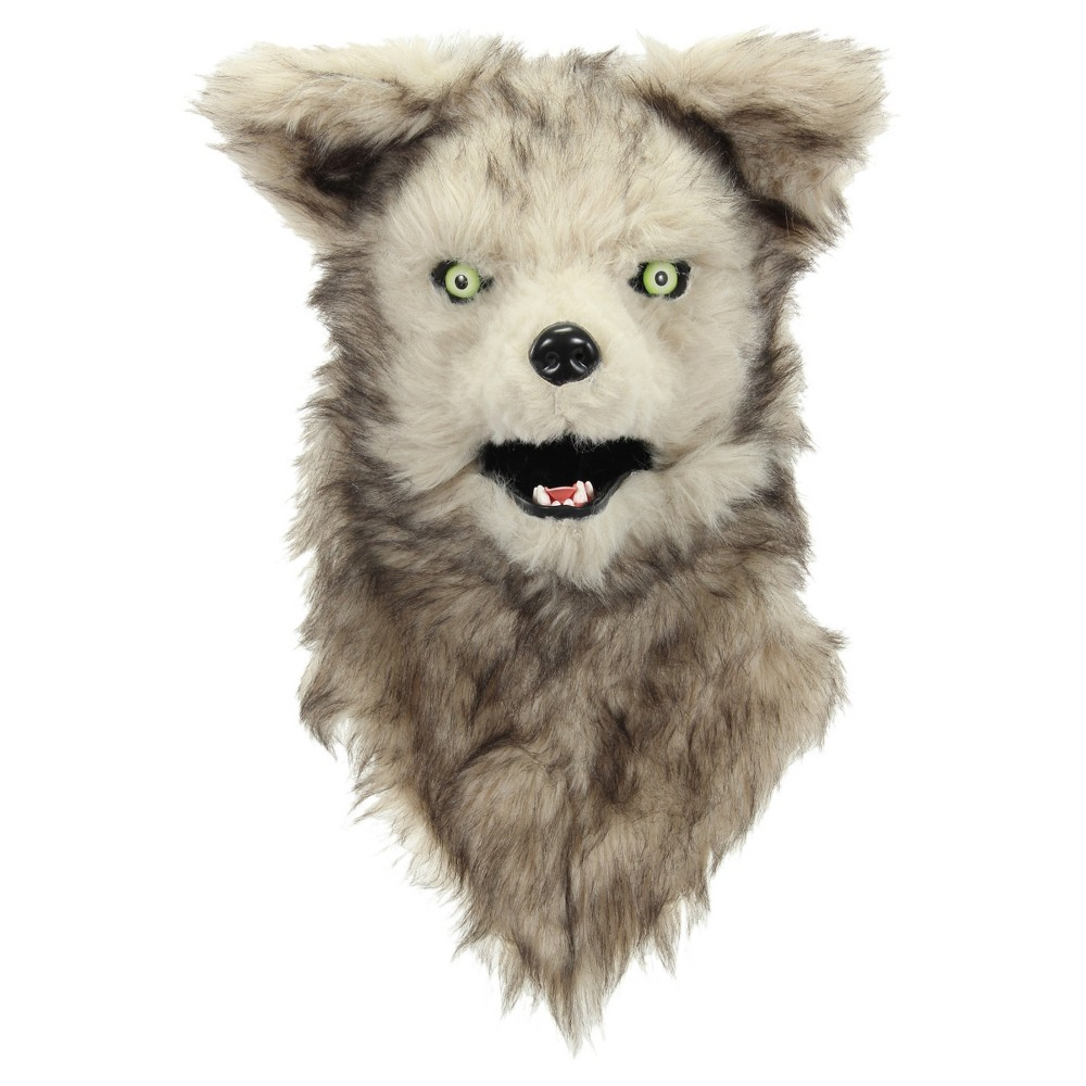 Adult Mouth Mover Wolf Mask - Hyde and Eek! Boutique, Adult Unisex, Gray