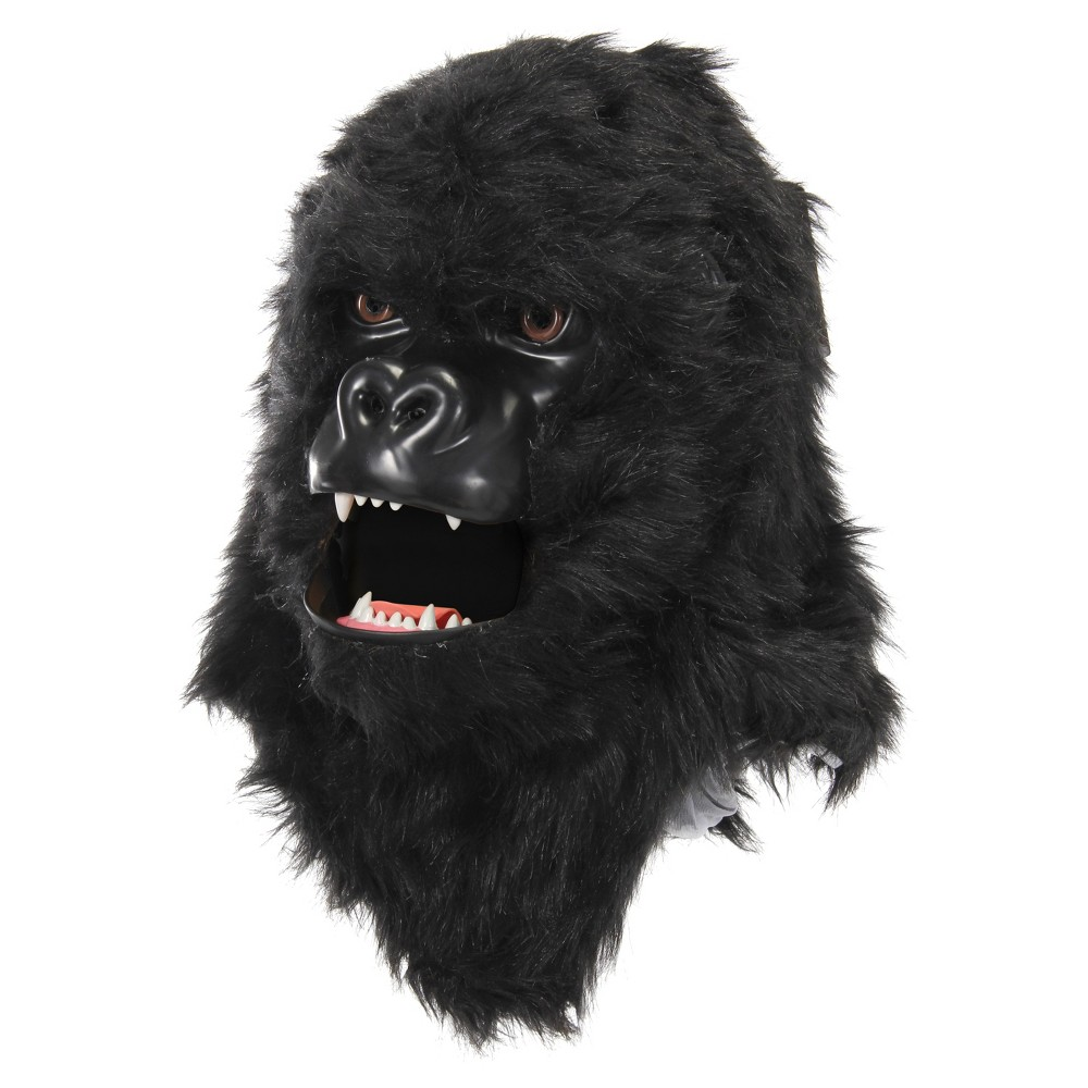 Adult Mouth Mover Gorilla Mask - Hyde and Eek! Boutique, Adult Unisex, Black