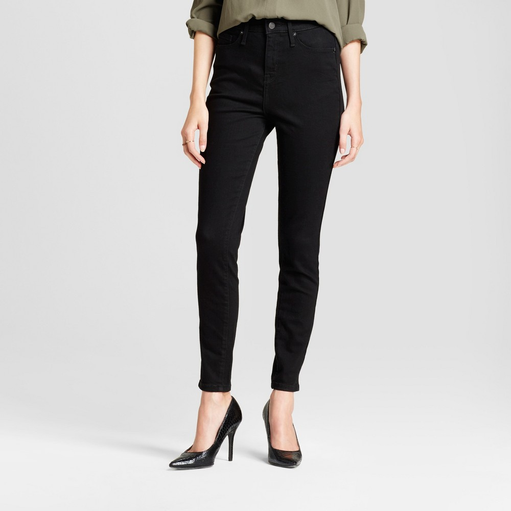 Womens Jeans Highest Rise Skinny - Mossimo Black 4