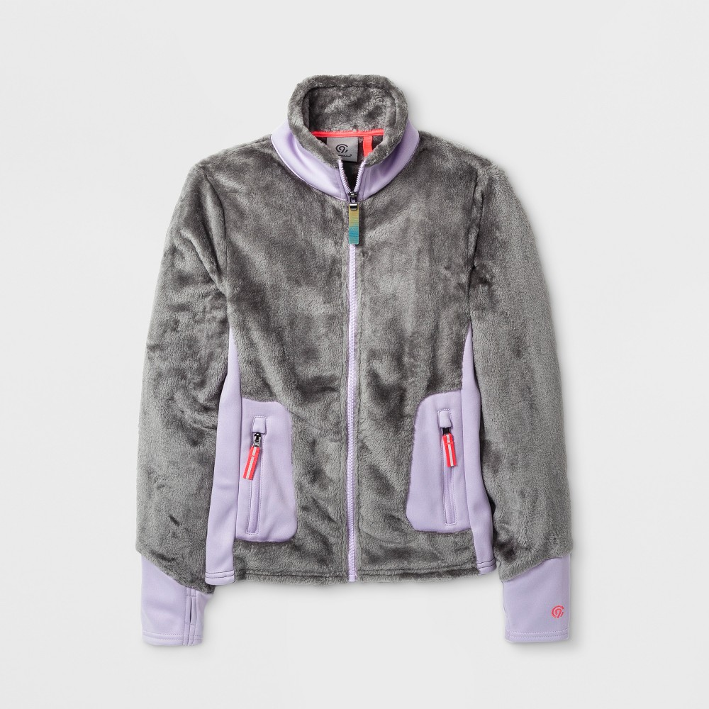 Girls Fleece Jacket - C9 Champion Gray L