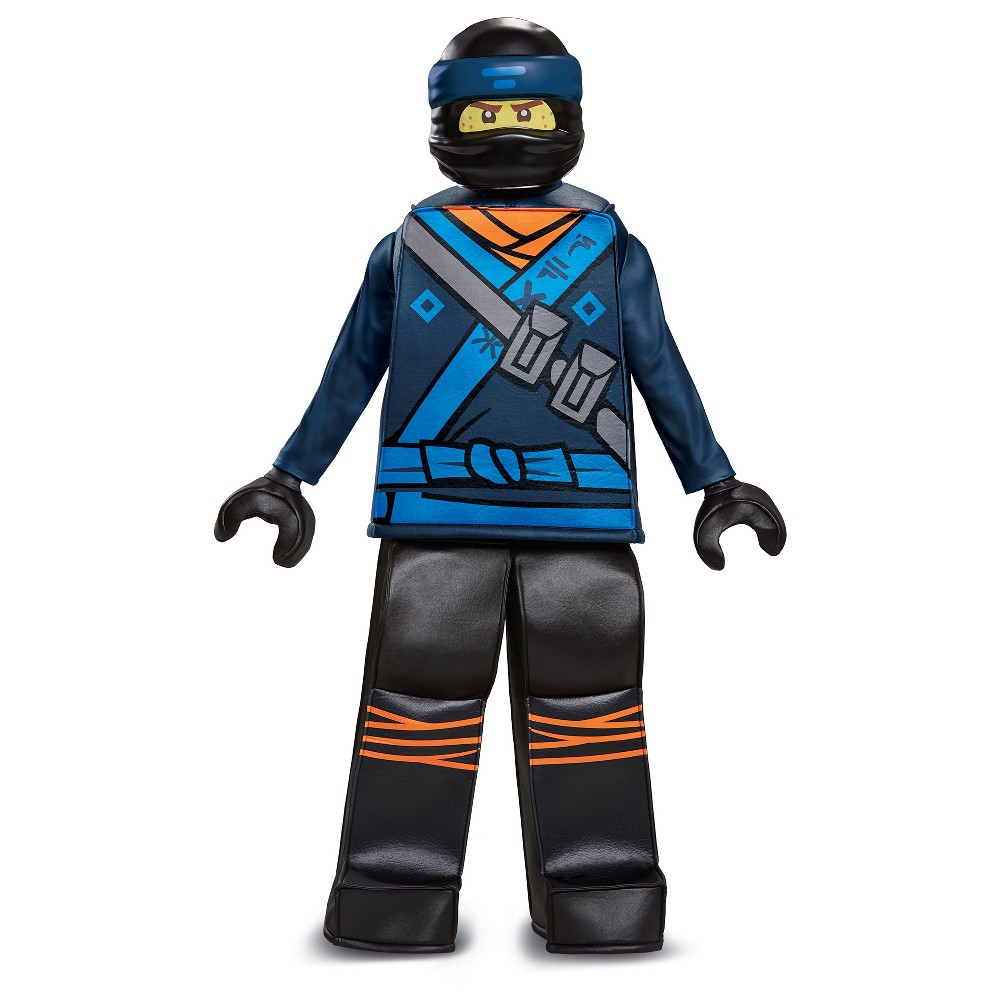 Boys Lego Ninjago Jay Deluxe Prestige Costume - M (7-8), Blue