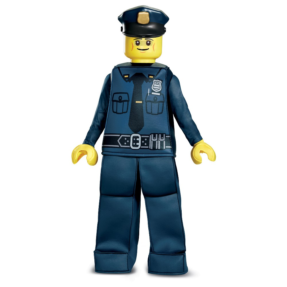Boys Lego Police Officer Prestige Deluxe Costume - L (10-12), Multicolored