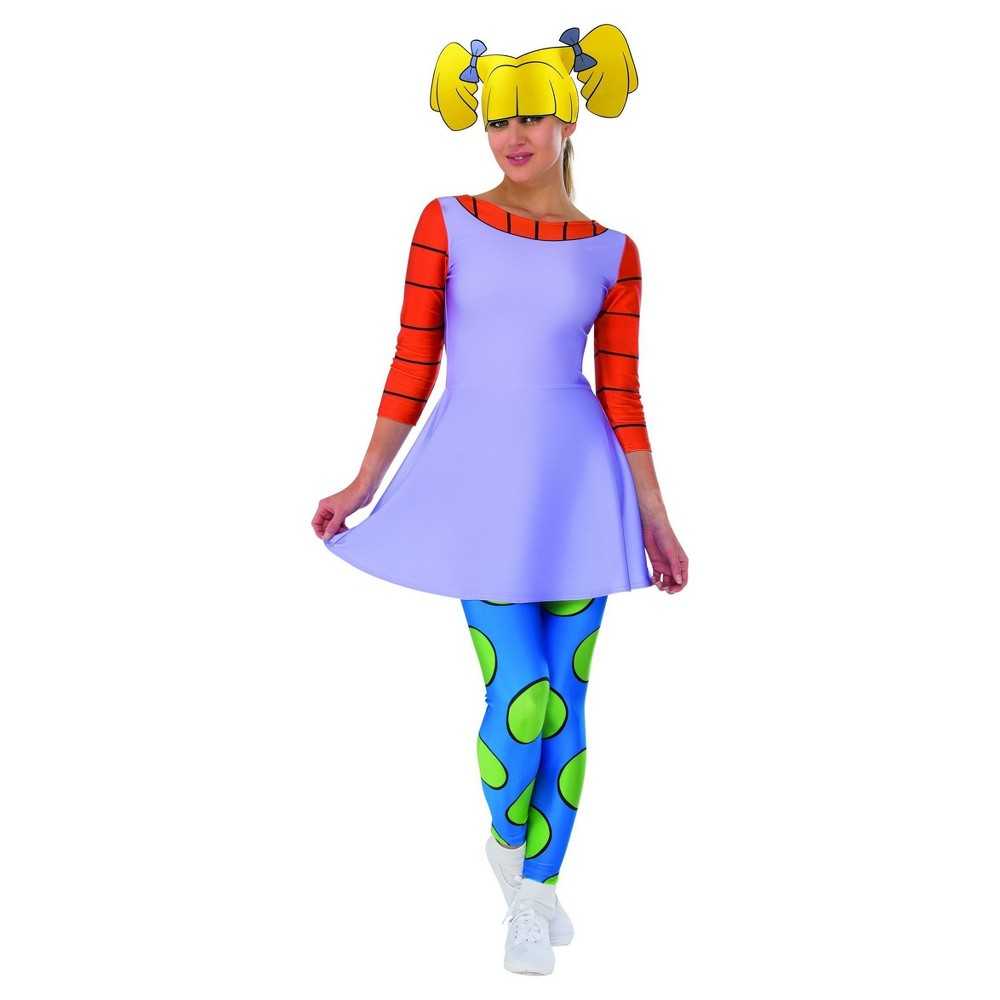Womens Rugrats Angelica Costume - S, Multicolored