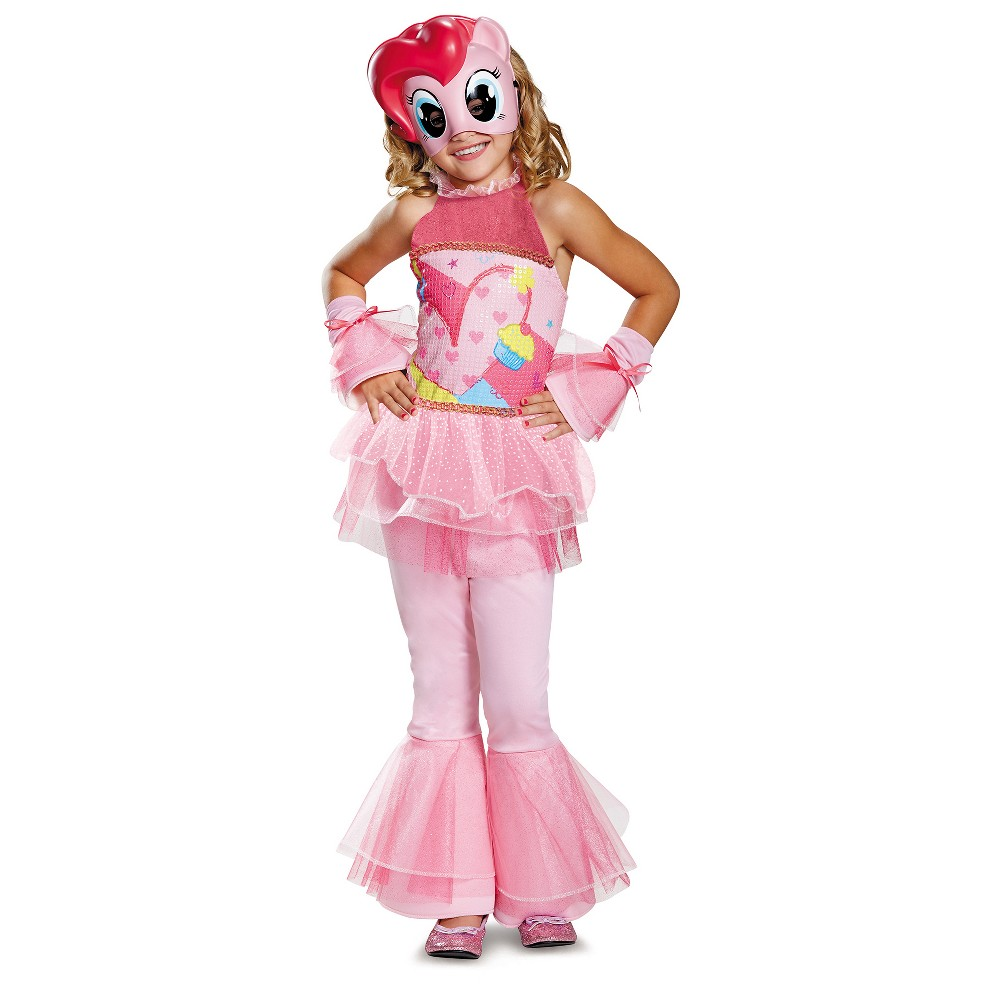 Girls My Little Pony Pinkie Pie Deluxe Costume - S (4-6), Pink