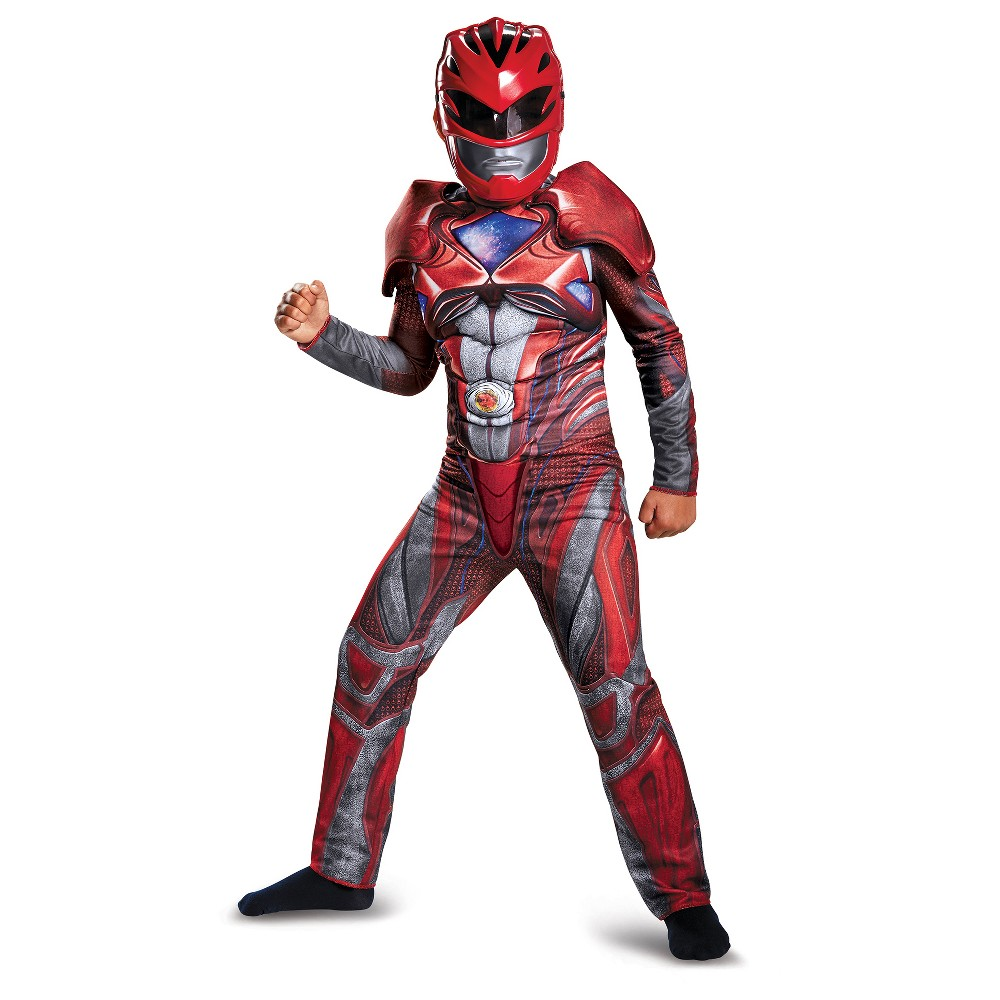 Boys Power Rangers Red Ranger Deluxe Costume - S (4-6)