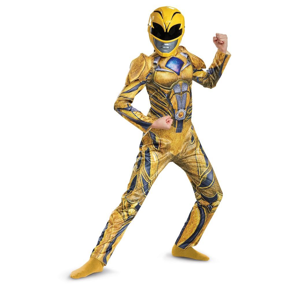 Girls Power Rangers Yellow Ranger Deluxe Costume - L (10-12)
