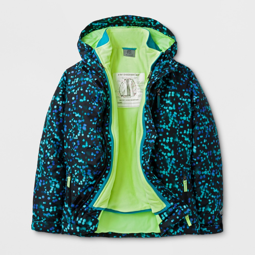 Girls 3-in-1 System Jacket - C9 Champion Teal L, Blue