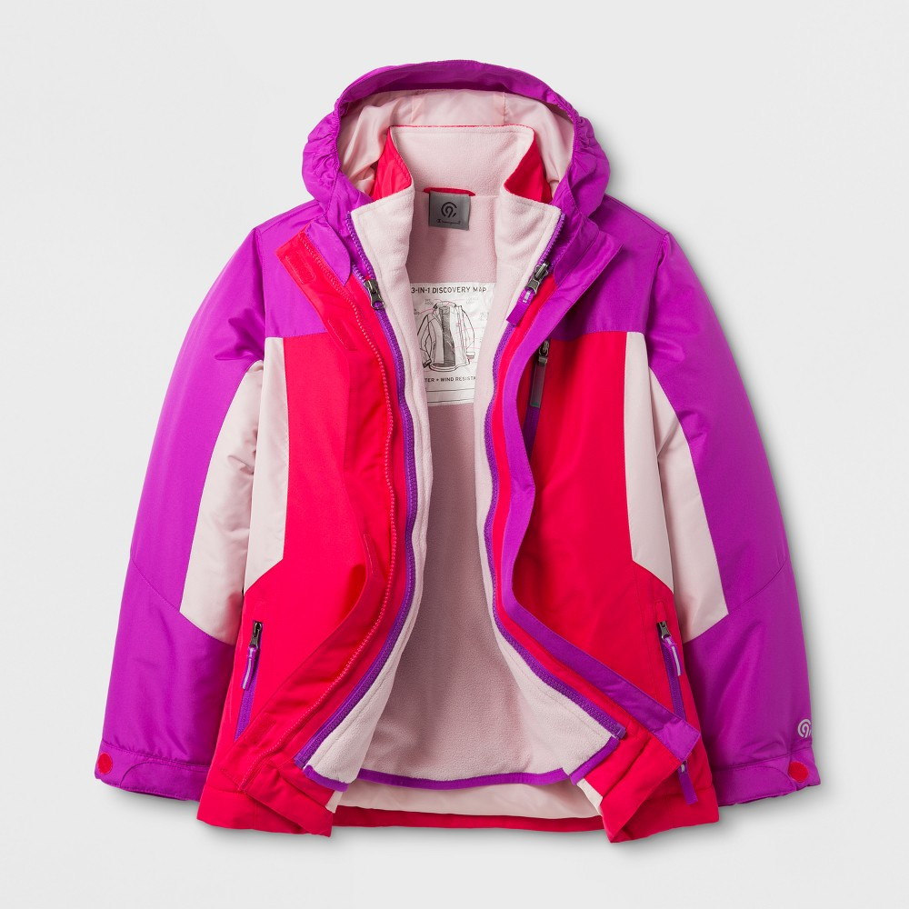 Girls 3-in-1 System Jacket - C9 Champion Pink XS