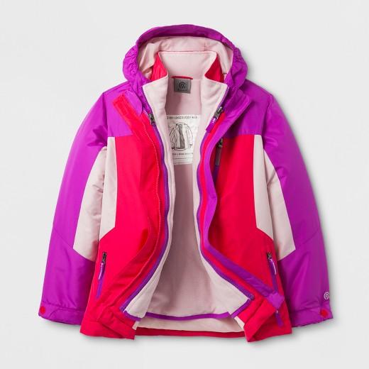 Girls' 3-in-1 System Jacket C9 Champion® Pink : Target
