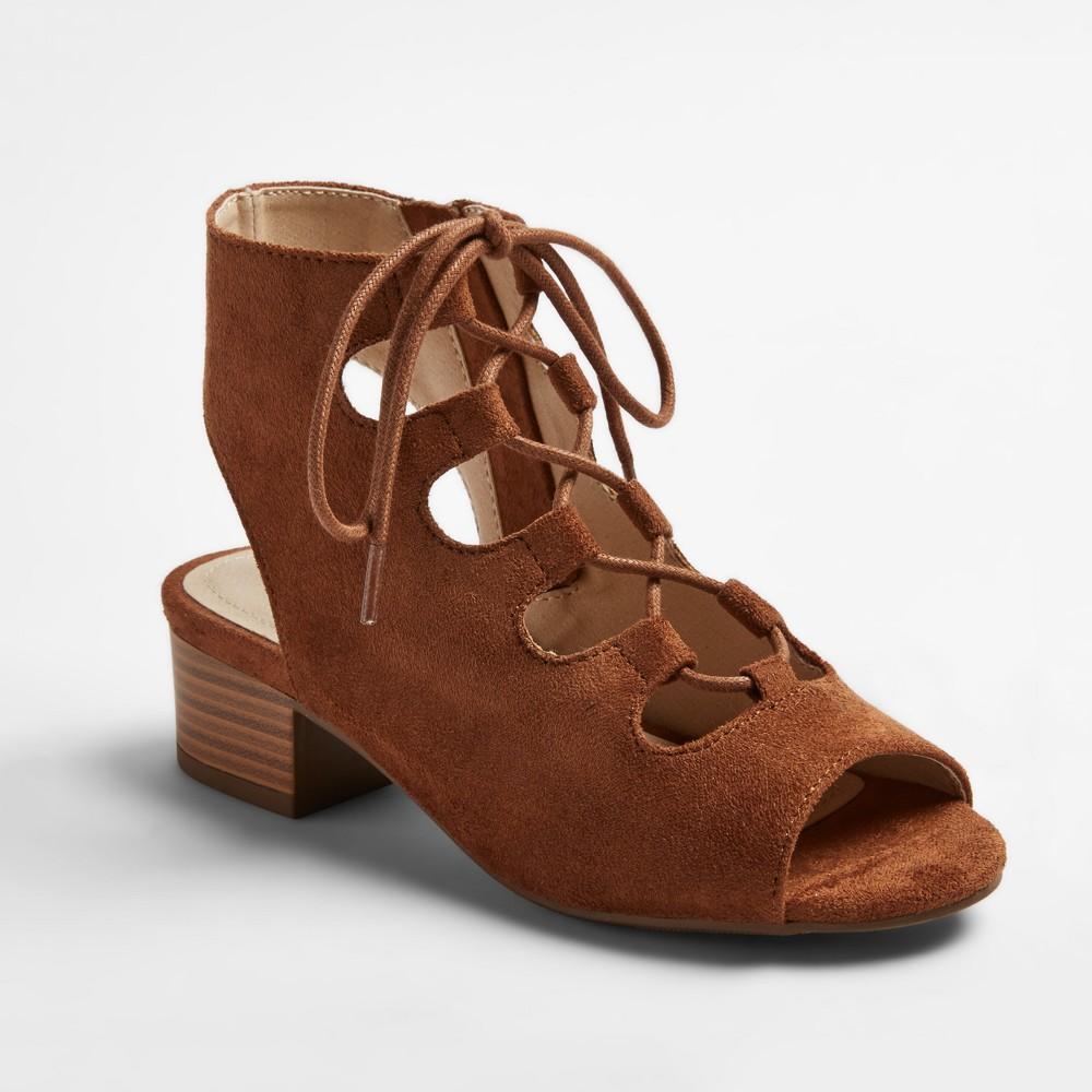 Girls Stevies #ohmy Heeled Gladiator Sandals - Chestnut (Brown) 4