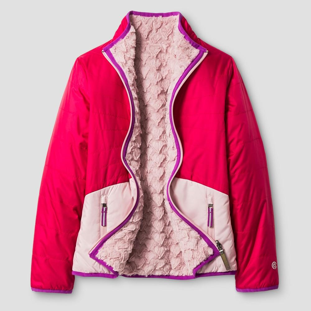 Girls Reversible Puffer Jacket - C9 Champion Pink L