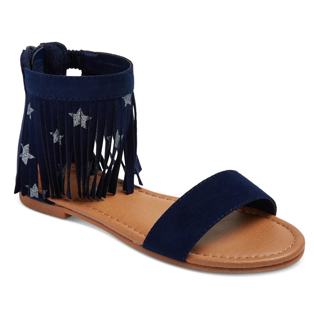 Girls Gella Fringe Star Thong Sandals Cat & Jack - Navy 2, Blue