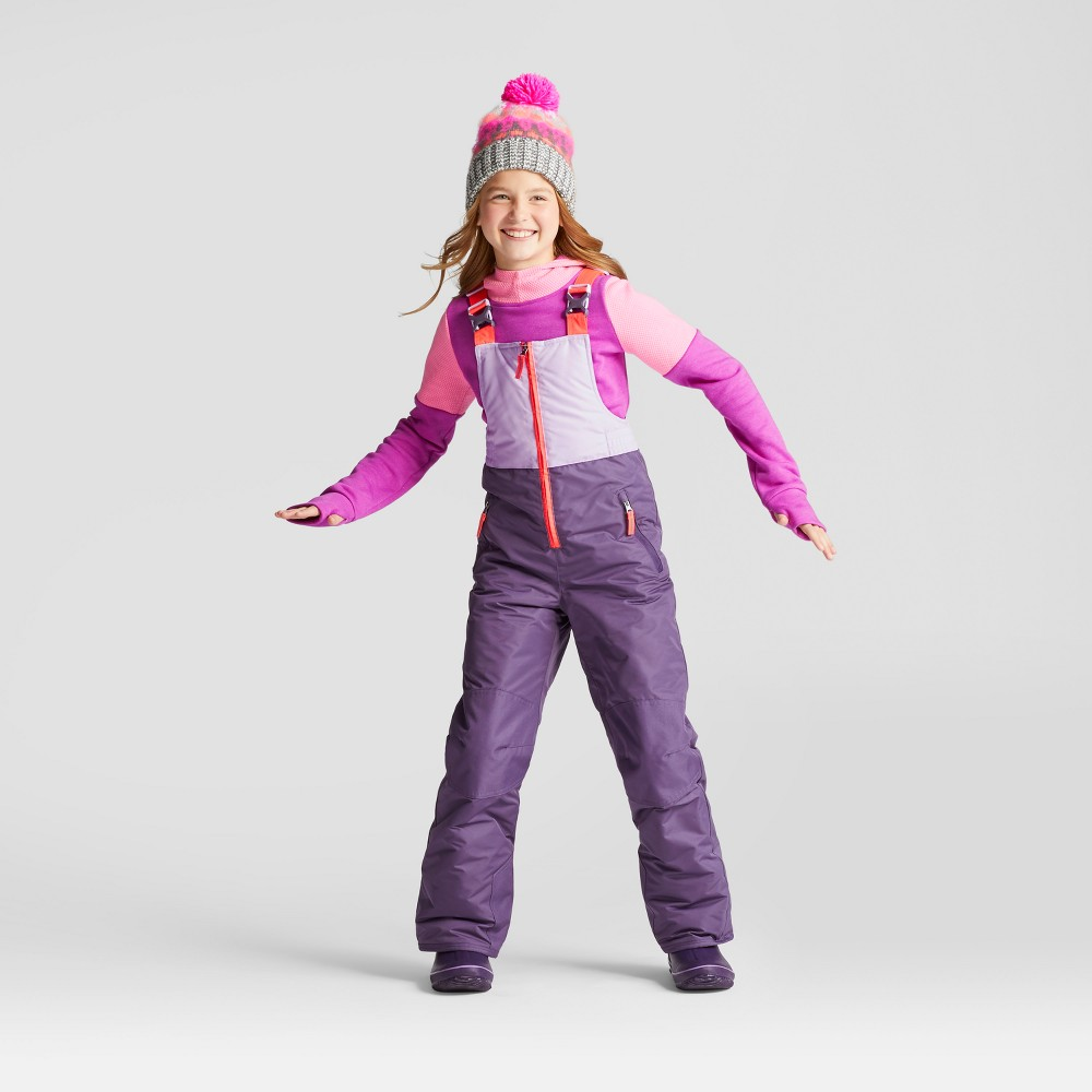 Girls Snow Bib Outerwear - C9 Champion Purple L