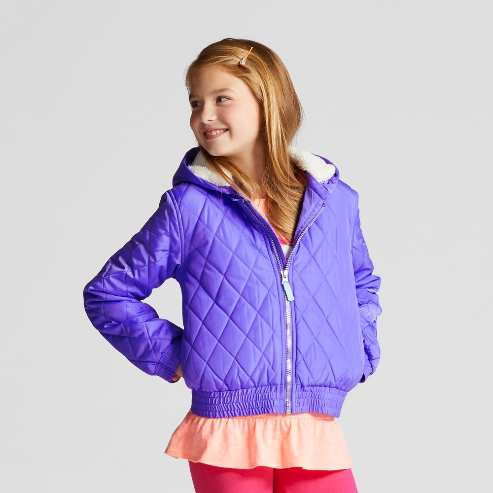 Girls Unicorn Puffer Jacket - Cat & Jack Purple XS