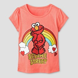 Toddler Girls' Elmo T-Shirt - Orange