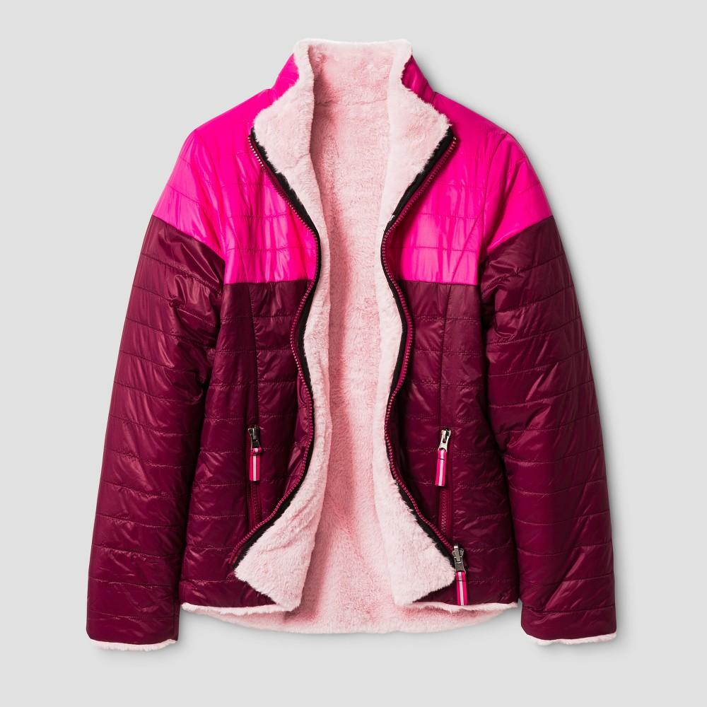 Girls Reversible Puffer Jacket - Cat & Jack Pink L