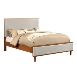 Dawna Mid-Century Modern Fabric Upholstered Bed- Furniture Of America