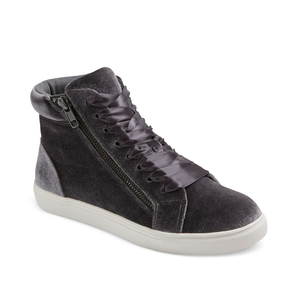 Womens Sara High Top Velvet Sneakers - Mossimo Supply Co. Gray 8.5