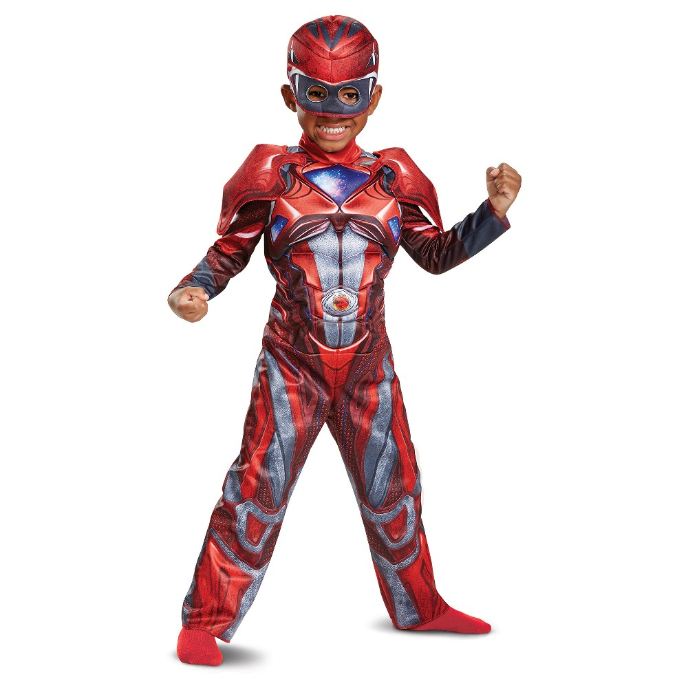 Toddler Power Rangers Red Ranger Costume - 2T, Toddler Boys