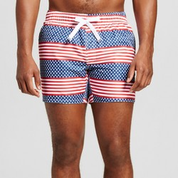 Men's Americana Swim Trunks - Evolve By 2(X)Ist Red