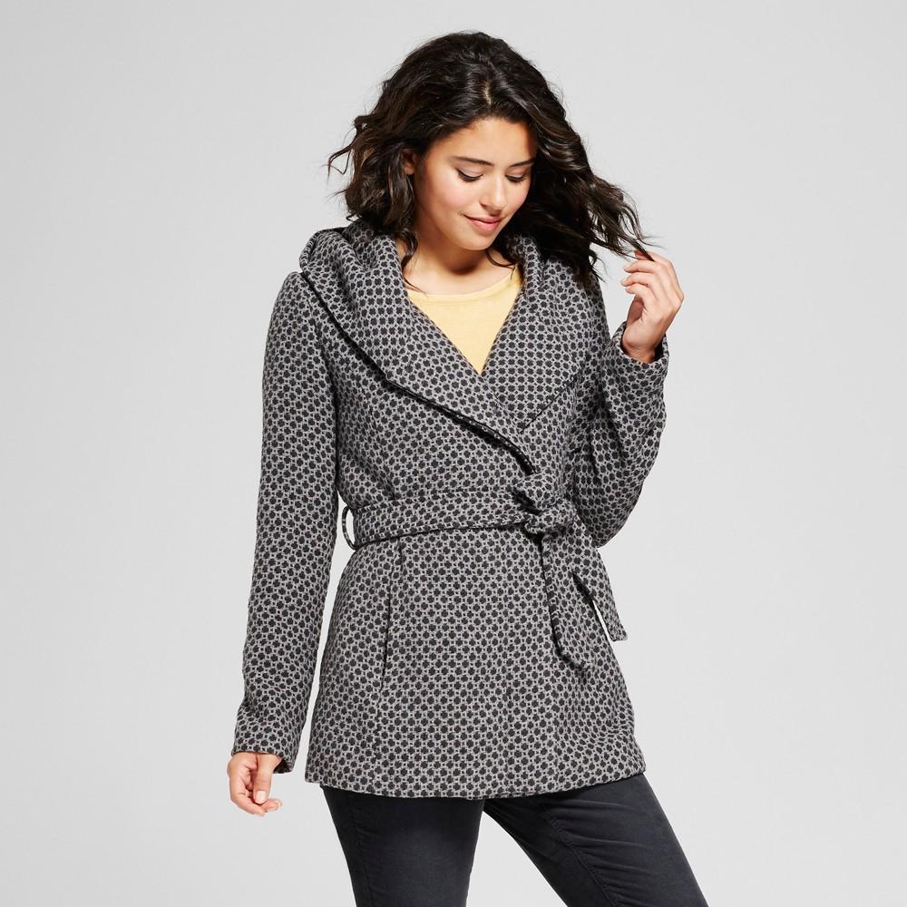 Womens Tweed Faux Wool Wrap - Xhilaration (Juniors) Gray S