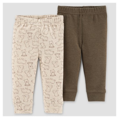 Baby Boys' 2pk Bears Pants - Just One You™ Made by Carter's® Brown 3M