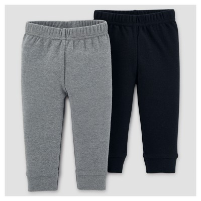 Baby Boys' 2pk Pants - Just One You™ Made by Carter's® Gray/Black 6M