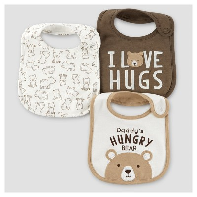 Baby Boys' 3pk Bears Bib - Just One You™ Made by Carter's® Brown