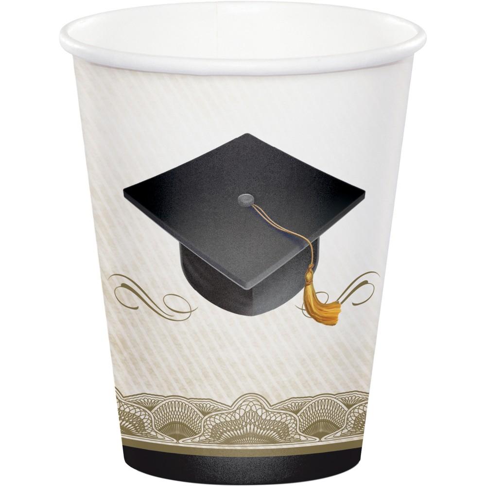 8ct Graduation Cap & Gown Cups