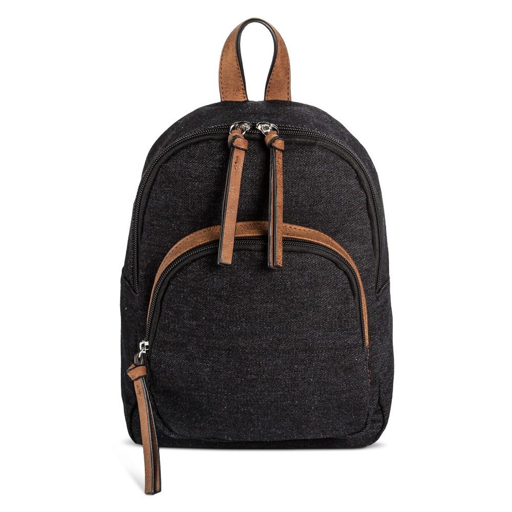 Womens Bueno Canvas Backpack Handbag - Black Denim