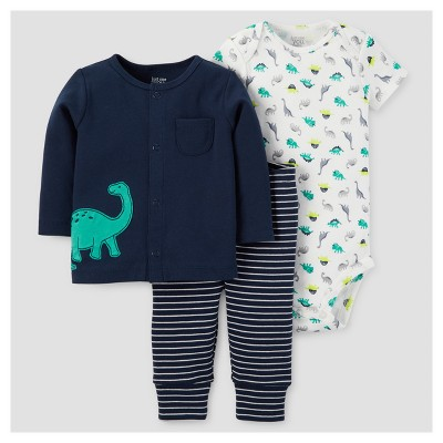 Baby Boys' 3pc Dinos Long Sleeve T-Shirt/Bodysuit/Pants Set - Just One You™ Made by Carter's® Blue 9M