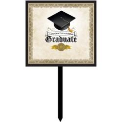 Graduation Cap & Gown Yard Sign