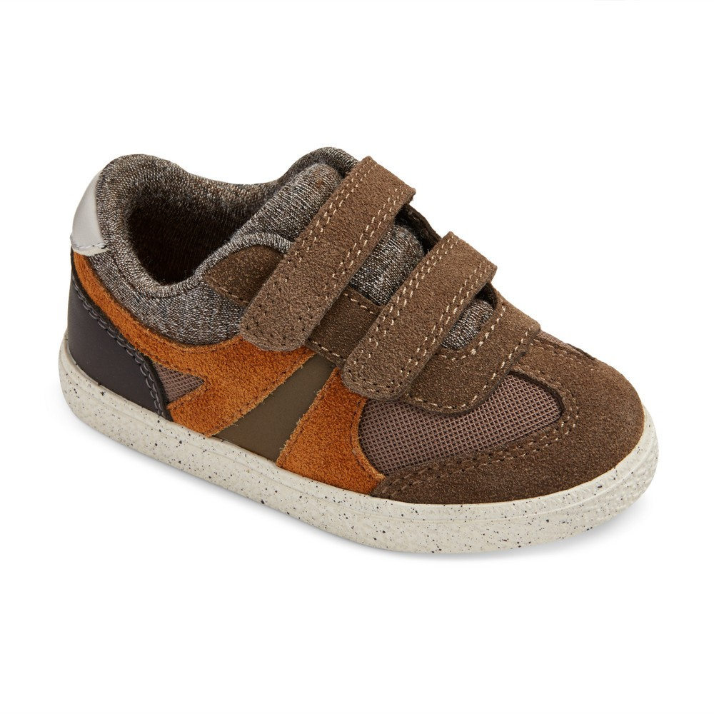 Toddler Boys Casey Mid Top Casual Sneakers Cat & Jack - Brown 6