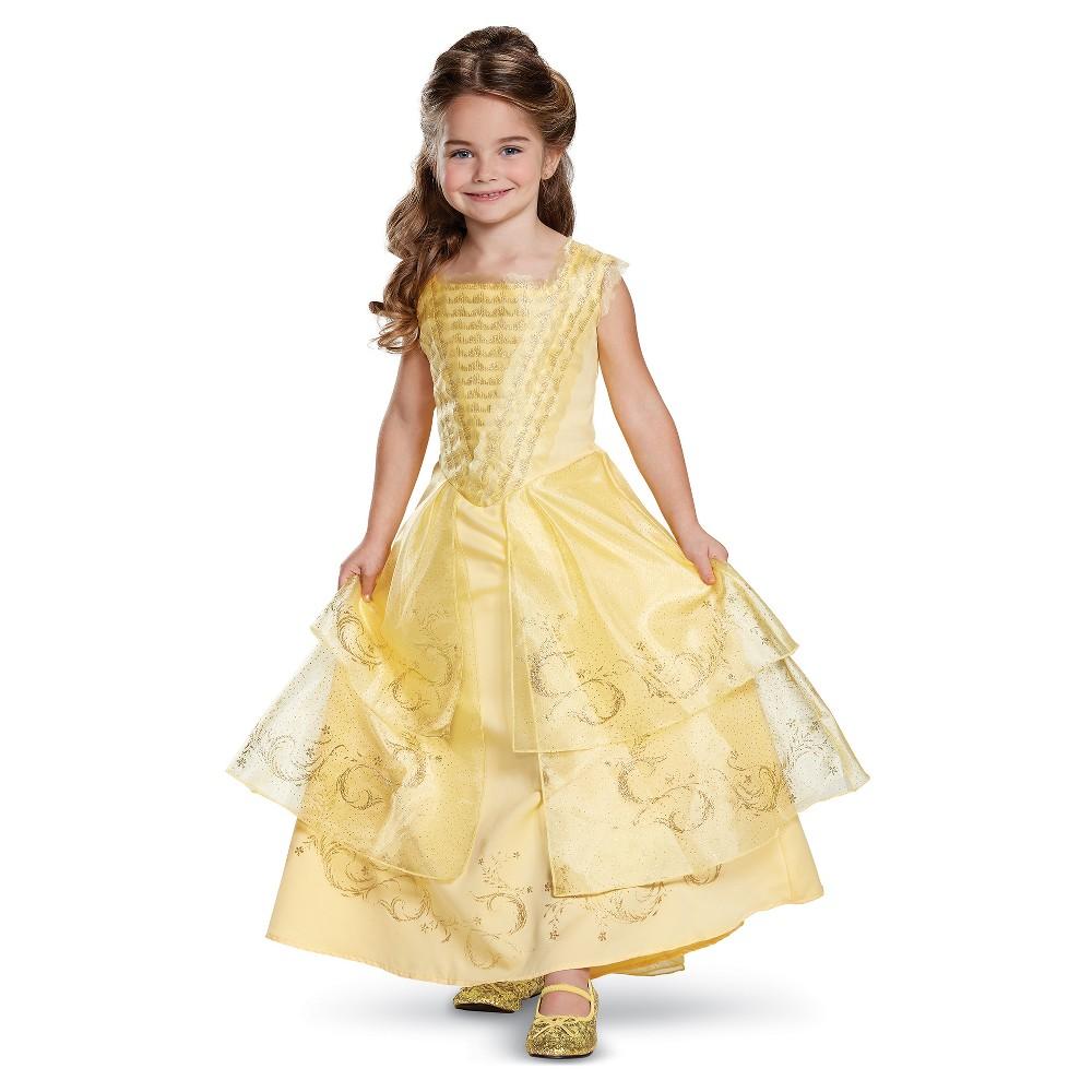 Girls Disney Princess Belle Deluxe Costume - M (7-8), Yellow