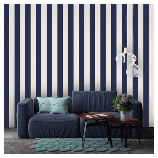 Removable Wallpaper tempaper self - adhesive removable wallpaper stripes - navy : target