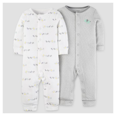 Baby 2pk Jumpsuit - Just One You™ Made by Carter's® Green Elephant 3M