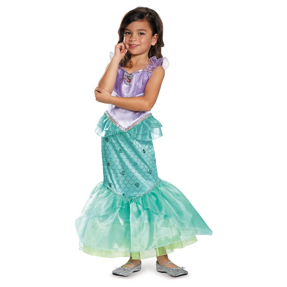 Girls Disney Princess Ariel Deluxe Costume - M (7-8), Multicolored