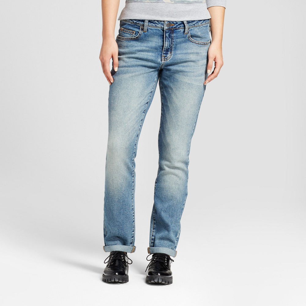 Womens Boyfriend Jean - Mossimo Dark Wash 8, Blue
