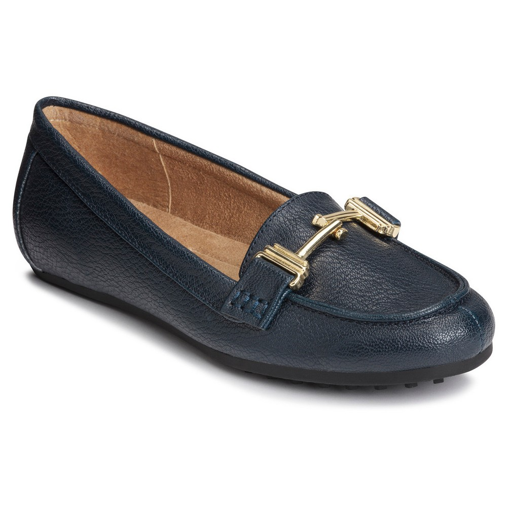 Womens A2 by Aerosoles Test Drive Loafers - Navy (Blue) 5.5